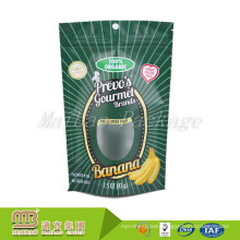 Eco Friendly Resealable Plastic Food Packaging Self Standing Up Pouch With Ziplock