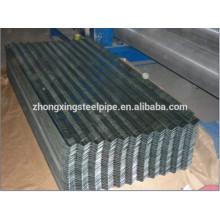 Hoja de acero acanalada galvanizada / techos metal hoja / hoja de acero revestida del cinc