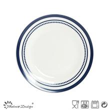Placa de cena de porcelana de 26,5 cm con diseño de estilo Pop Decal