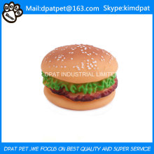 Chewing Natural Rubber Hamburger Toy for Pets