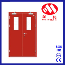 Puerta de cristal de acero del proyecto, puertas dobles