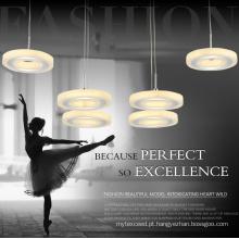 Lâmpada de lustre de cristal redonda de iluminação de pingente de classe superior