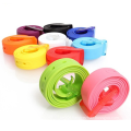 Fashion women belt silicone rubber belt
