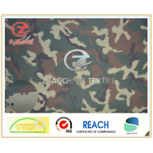 600d Police Camouflage Printing Fabric PVC Coated 380GSM for Polic Outvest Use (ZCBP005)