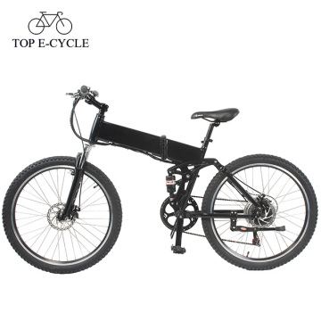 Top E-cycle full suspension electric mountain bike folding ebike