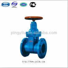 Válvulas de fechamento de vedação moles de ferro cinzento não-subindo Z45X-10