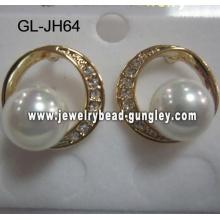 pendientes de pera de shell para boda