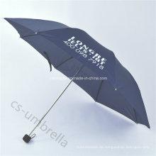 Pongee Baldachin 4 Falten oder Falten Regenschirm mit Tasche (YS4F0005)