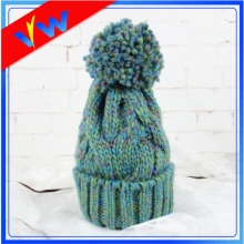 Custom AB yarn knitted beanie, mixed color basic beanie