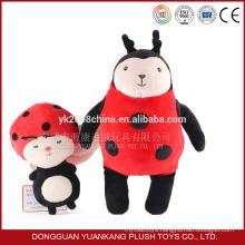 cute design soft fabric stuffed lady bug plush toy