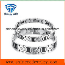Fashion Contracted Titanium Steel Couple Bracelet with Stainless Steel Jewelry