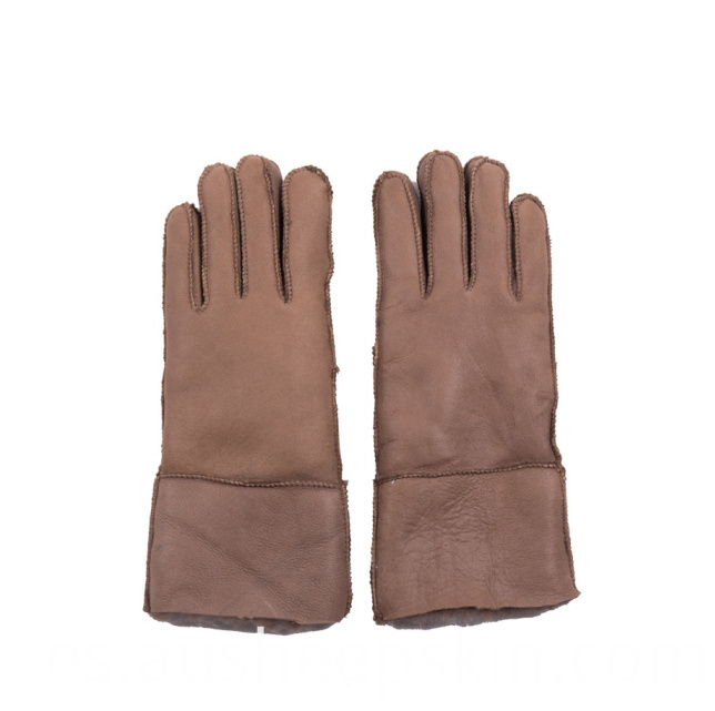 Sheepskin Out Sewing Gloves