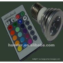 3W de color con pilas de cambio de luces LED 100-240V