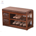 living room furniture wholesale modern paulonia wooden shoe rack cabinet