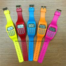 Kids Digital Watch Fancy Calculator Relógios de pulso para presente infantil