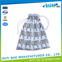 Top quality customized wholesale calico drawstring bag