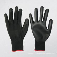 13G Polyester Liner Polyurethane PU Chemical Glove (5537. BL)