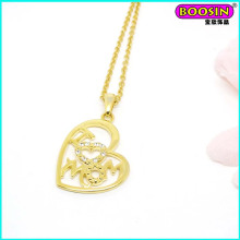 High Quality Love Mom Zinc Alloy Cheap Gold Pendant Necklace