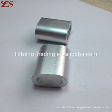 Alambre de acero de aluminio oval mangas