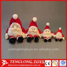 Regalo promocional personalizado de felpa navidad santa juguete