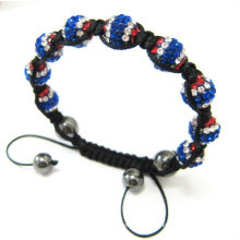 Bracelets Shamballa à main faits à la main Bracelets Shamballa à main faits à la main Bracelet brillant olympique de Londres BR06