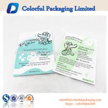 Sacos de tonalizador plásticos feitos sob encomenda resealable faciais cosméticos da folha plástica