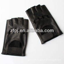 custom sheepskin cool fingerless leather cycling glove