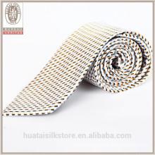Wholesale wool lining silk jacquard woven tie