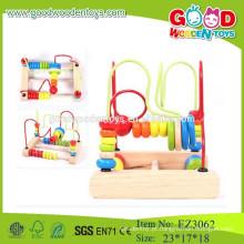 Brinquedos baratos de madeira contas baratas contas de abacus coloridas