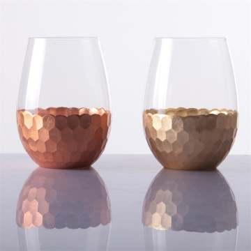 Stemless Wine Vasler Glass Set, 16 oz