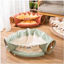 Tente de lit de chat drôle de haute qualité avec tunnel