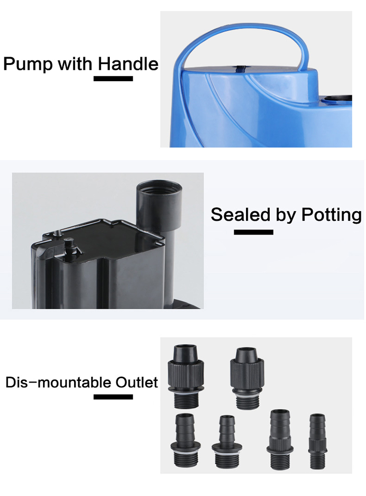 Sunsun 2/3/4 Inch Low Water Level Electric Centrifugal Submersible Deep Well Field Water Pump