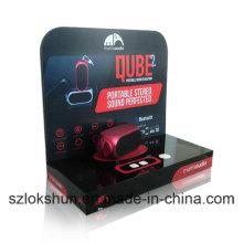 Black Acrylic POS Display Stands Vitrinas contrariables para caja de sonido