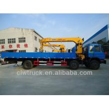 8 Tons Dongfeng camiones grúas para la venta, 3 alxes camiones con la grúa