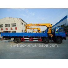 8 Tons Dongfeng truck cranes for sale,3 alxes truck with crane