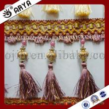 2015 Hot Sale Curtain Tassel Fringe Perles en plastique Tassel Trimling Beaded Ruban Trim Garniture en perles pour rideaux