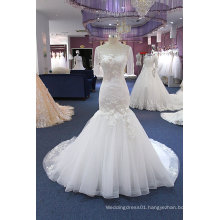 Mermaid Short Sleeve Wedding Dress