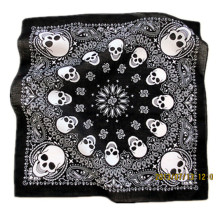 OEM Produce Customized Design Logo Skull Printed Cotton Headwear Bandana