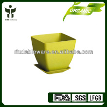 bamboo fiber rustic eco mini flowerpot