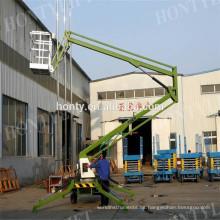 Plataforma elevadora articulada montada en camión para recogedor de cerezas Plataforma elevadora articulada montada en camión para recogedor de cereza