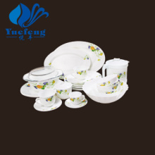 Heat Resistant Opal Glassware-58PCS Press Dinner Set