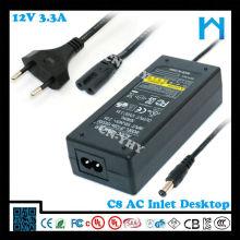 12v 3.33a adaptateur secteur 40w UL CE FCC GS SAA C-tick