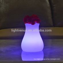 indoor use modern shaped vase desk lamps decoration battery portable luminaire table lamp