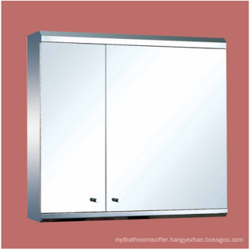 Medicine Cabinets Bright Stainless Steel Double Medicine Cabinet Silver Painted Mirrored Cabinet