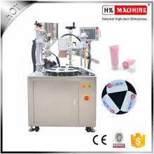 Máquina de corte de sellado y sellado de tubo suave cosmético