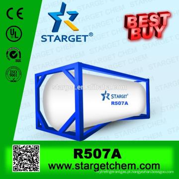 Mistura Preço de fábrica Ambiente r507 gás refrigerante