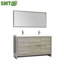 Fancy Style Wash Hand Basin Oak Bathroom Cabinet