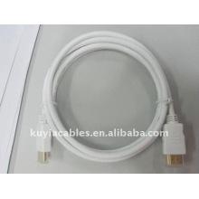 Blanc Câble HDMI en cuivre, Câble HDMI Premium Ethernet pour HDTV, Blanc, câble 1,5 m