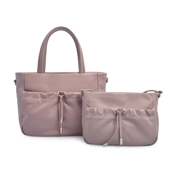 high quality real white leather tote casual ladies bag