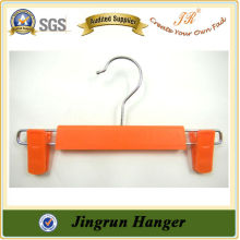 Fashion Orange Color Plastic Trouser Hanger for Kids